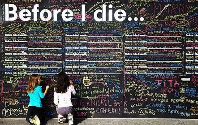 Before I Die Wall
